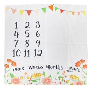 Baby Monthly Milestone Blanket Newborn Background Cloth Photography Backdrop Baby Photo Background for Shower