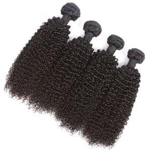 Brezilyalı Kinky Kıvırcık İnsan Saç Paketler Sigara Remy İnsan Saç Dokuma Kinky Kıvırcık Paketler Doğal Renk Saç Uzantıları 8-28 inç