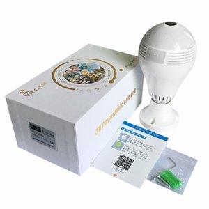 Ojo panorámica de cámaras de seguridad Cámara de vídeo vigilancia IP HD 960p bulbo 1080P wifi bombilla de la cámara de 360 grados dos vías de audio