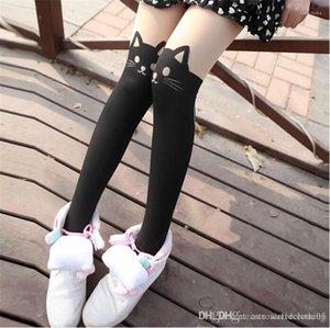 Socks Skinny Over Knee Animal Print Ladies Tights Fashion Female Clothing Cartoon Cat Womens