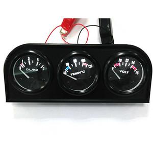 CAR 52mm 트리플 게이지 3 in 1 (VoltMeter + 수온계 + 오일 프레스 게이지) Sensor Car Meter