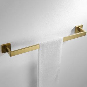 Breve baño toalla cuadrada Bastidores montado en la pared 304 de la toalla de acero inoxidable pulido espejo riel de la barra barra de Chrome