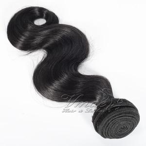 Top Quality malaio 100% virgem do cabelo da onda do corpo 3 Pacotes humano real do Weave Cabelo Pacotes trama negócio frete grátis VMAE peruca