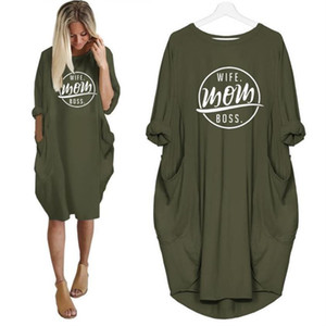 TShirt moda para as mulheres bolso ESPOSA MOM Letters Imprimir camiseta Plus Size Tops Graphic Tees Mulheres Off The Shoulder