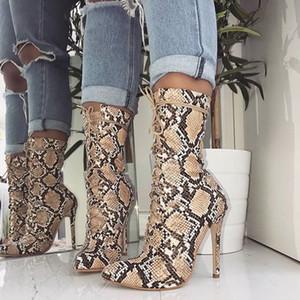 Odinokov Kadın Ayakkabı Leopard Baskı Topuk Düğün Sivri Burun Yüksek Topuklar Pompa Roma Ayakkabı Chaussures Femme pompaları