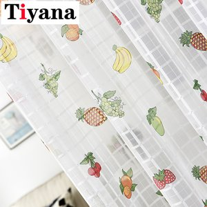 Tiyana Fruit Design Tulle Curtains Living Bedroom Kids kitchen Cartoon Sheer Curtains Curtain Panel ZH026-5 Y200421