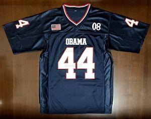 Президент # 44 Барака Обама Джерси 44-й Америка Америка Футбол Джерси Мужской Футбол Джерси Nave Blue S-3XL Высокое Качество Бесплатная Доставка