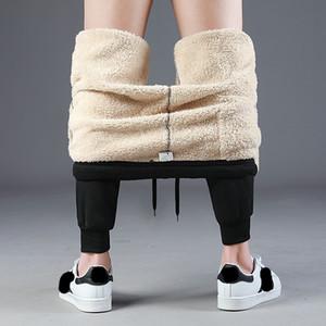 Бренд мужские шерстяные брюки вне бархат толстые бегунов Руно зима супер теплые брюки супертяжелом молнии брюки мужчины тренировочные брюки