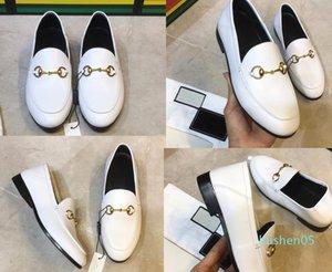 Nueva mulas Princetown mujeres de los hombres de piel Zapatillas mulas Pisos cuero genuino del diseñador de moda señoras de la cadena de metal calzados informales de los Estados Unidos 5-12 L05
