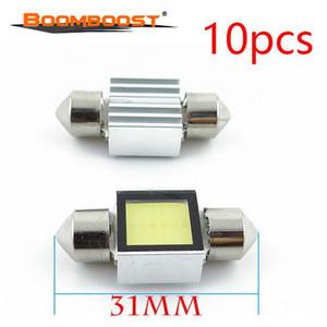 지도 빛 10 PC 31mm LED 실내 빛 쐐기 자동 독서 돔 램프 차 감적 빛 12V