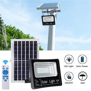 120W Solar Powered Street Flood Lights Outdoor Waterproof IP67 with Remote Control Security Lighting for Yard, Garden, Gutter