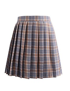 JK01 2020 In Stock Cheap with Uniform Skirts Cosplay Plaid Skirt with different colors size Homecoming Dresses