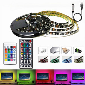 5050 RGB LED Strip Waterproof DC 5V USB LED Light Strips Flexible Tape 50CM 1M 2M 3M 4M 5M With Remote For TV Background Laptop HDTV