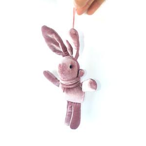 15CM 베스트 셀러 긴 귀 보내고 토끼 한국어 벨벳 미니 꽃다발 토끼 인형 펜던트 인형 봉제 장난감 선물 키즈