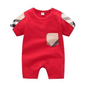 kids romper 2019 INS NEW 패션 키즈 여름 새 스타일 격자 무늬 장난 꾸러기 높은 품질의 면화 레저 스타일 키즈 romper 3 색