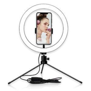 """Горячие 2 в 1 селфи держатель мобильного телефона кольцо света 6"""" светодиодное освещение с штатив для Видео YouTube и состава,прямую трансляцию/фотография"""
