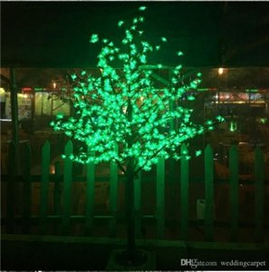 2m / 6.5ft Heigh LED Искусственные Cherry Blossom Tree Light Свет Рождества 1152pcs светодиодные лампы 110 / 220VAC непромокаемые фея садовый декор