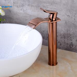 Banyo Havzası Musluk Pirinç Bakır Biten Musluk Evye Mikser Dokunun Vanity Sıcak Soğuk Su Banyo Muslukları