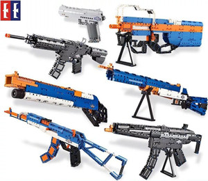 SY Kid Building Blocks Modell Guns, AK, M4 Sturmgewehr, DIY Developmental Spielzeug, Sicherheit Harmlos, für Kid Party Weihnachten Geburtstag'Geschenke