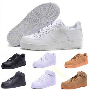2019 Nike Air force 1 one Utility Red 1 Dunk Alta calidad Rojo Negro blanco Zapatos casuales Negro Blanco Solo naranja Trigo Mujeres Hombres Zapatillas altas de corte bajo