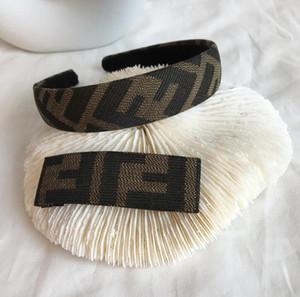 Дизайнерские повязки ретро Письмо печати женщины повязки новый волос группа для подарка шикарные роскошные модные повязки