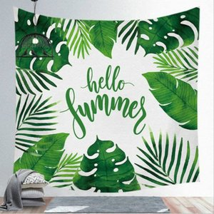Creativa hojas verdes Tapiz Tropical Pared planta colgante Granja Hogar Tapices Mantel Colcha Tenture Alfombra