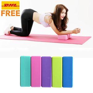 DHL! Eva ambientale Yoga Foam 23 * 15 * 7.6cm del mattone esercizio Sport Fitness Props Schiuma Brick Yoga Plasticità Pilates Meditazione FY4060