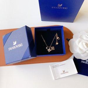 Frauen hängende Halskette neues Zubehör mit High-End-Geschenk-Box WSJ021 Romantischen Stern-Diamant-Halskette