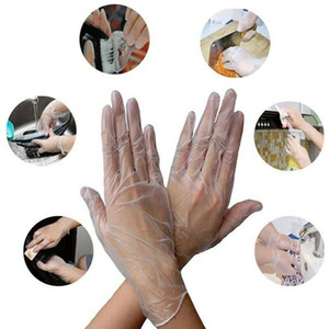100pcs / pack à usage unique en PVC Gants de protection anti-poussière transparent Gants de cuisine Gants de protection imperméable Dishwashing CCA12018