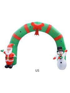 Navidad arco inflable decoración del partido de la iluminación del hogar centro comercial acuerdo de promoción plug-in inflable América europea