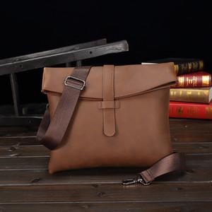 Shoulder Bags For Men Pu Leader Crossbody Bag High Quality Messenger Bag Waterproof Brown Soft Sling Men Casual Fashion Work