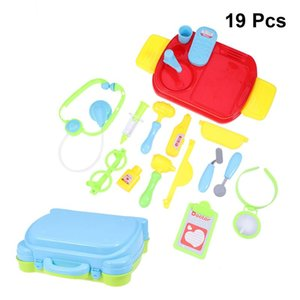 19 adet Çocuk Taşınabilir Bavul Oyuncak Eğitim Simülasyon Tıbbi Ekipman Seti Doktor Oyuncak Oyna Pretend (096 Yeşil)