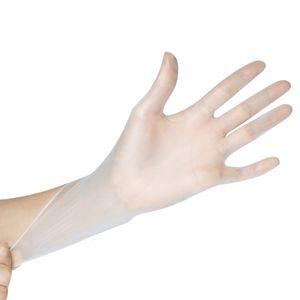 In Stock DHL Ücretsiz Kargo PVC Şeffaf Vinil Tek kullanımlık eldiven, Serbest Toz Ücretsiz tek kullanımlık Non-Steril Eldiven 100 ADET
