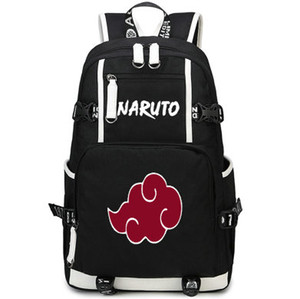 Облако рюкзак Наруто Акацуки день пакет популярный мультфильм мешок школы аниме packsack компьютер рюкзак Спорт школьный открытый рюкзак