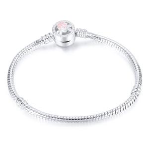 موضة جديدة diy سوار 3 ملليمتر ثعبان العظام سلسلة المرأة مجوهرات أساور النحاس النقي الفضة مطلي سلسلة 16 سنتيمتر إلى 21 سنتيمتر