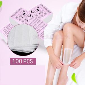 100pcs / Depilación cera depilatoria bolsa desechable de Gaza Depiladora papel que encera las Herramientas