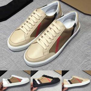 Vintage-Überprüfungs-Baumwoll und Suede Sneakers Turnschuhe der neuen Männer Luxus-Designer-Schuhe Männer überprüften Leinwand mit Box-Turnschuhe