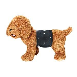-Dog fisiológicos pantalones ropa interior femenina perro cachorro de tela del abrigo del vientre banda urinaria Wrap pañal enfermería pañal reutilizable 2