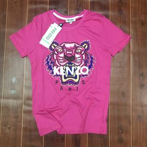 Ken2o мужские дизайнерские футболки бренд футболки uniex дышащие шорты с коротким рукавом тигр рубашка роскошная вышивка тигр тройники 20032406T