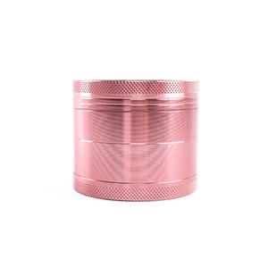 Barato oro rosa Picadoras ginder de metal kit de 40 mm 4 capa molinillo de tabaco para fumar de aleación de dientes molinillos de colores encajan color al azar hierba seca