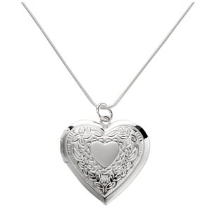 28 mm Silver Plated Medallion Pendant Necklace Heart Necklace New