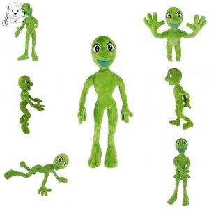 O melhor Dança estrangeiro Toy Dame Tu Cosita Martian Man Plush Toys Stuffed Animal Plush Plush verde Crazy Frog Macio Boneca Y200703