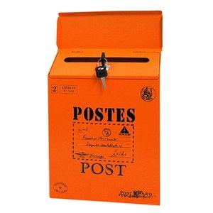 Двор Настенного Letter Box Home Decor краска с замком Железного Урожая Почтового Mailbox украшение Durable газетой Красочной