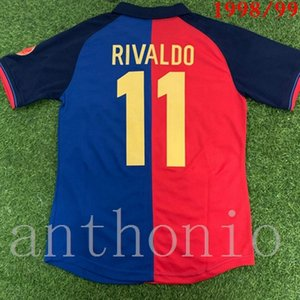 1998/99 Rivaldo GUARDIOLA 100 e anniversaire de football Maillots 08 09 MESSI INIESTA 06 07 A. RONALDINHO Retro Football Shirts Camisetas de futbol