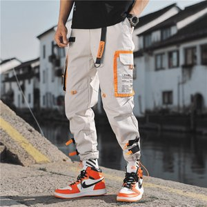 Gonthwid multi poches Pantalon cargo Harem Jogger Hommes Hip Hop Mode Pantalons Casual Suivre Streetwear Harajuku Hipster Sweatpants