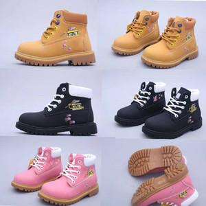 2020 bois prêter Classique d'origine de mode enfants designer Chaussures Garçons filles d'hiver boot enfants Martin Neige Bottes de combat 26-35 Chaussures