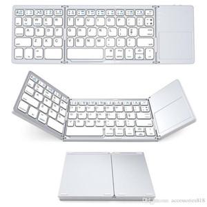 Notebook Mac Masaüstü TV için Fare Touchpad 50pcs Mini Bluetooth Üçlü Katlanır Klavye Taşınabilir Kablosuz Telefon Tablet Klavye
