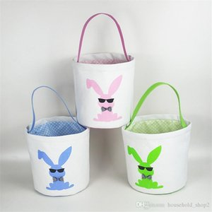 Cestini di Pasqua Paillettes Bunny Benne Monogrammable Easter Egg Benne Totes Uovo caccia sacchetto dei capretti regalo organizzatori A05