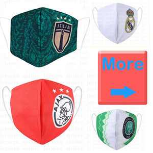 Real Madrid soccer mask Cotton flamengo sustainable use replaceable disposable masks wholesale soccer team club Protect football mask