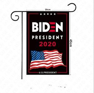 30 * 45 cm As bandeiras Eleição US Biden Letras Poliéster Garden Sinal Mão Jardim Flag Imprimir 2020 Decoração Bandeiras Americanas Home Trump D6 PXSU